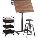 Deals List: Artists Loft Sit Stand Draft Table Set