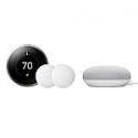 Deals List: 3rd Gen Nest Learning Thermostat + 2 Google Nest Temperature Sensors + Google Home Mini Chalk