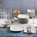 Deals List: Lorren Home Trends Porcelain 20 Piece Square Dinnerware Set