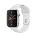 Deals List: Apple Watch Series 5 GPS, 44mm Silver Aluminum Case with White Sport Band - S/M & M/L