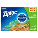Deals List: Ziploc Sandwich Bags with New Grip 'n Seal Technology, 280 Count