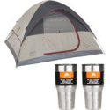 Deals List: Coleman 4-Person Traditional Camping Tent with 2 30oz Tumblers Value Bundle