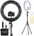 Deals List: Inkeltech Ring Light - 18 inch 2700K-5600K Dimmable Bi-Color Light Ring, 60W LED Ring Light with Stand, Lighting Kit for Vlog, Selfie, Makeup, YouTube, Camera, Phone - LCD Screen & Remote Control
