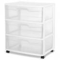Deals List: Sterilite Wide 3 Drawer Cart White