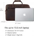 "Deals List: Kattee Vintage Genuine Leather 15.6"" Laptop Briefcase Messenger Bag Coffee"