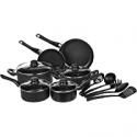 Deals List: AmazonBasics Non-Stick Cookware Set, Pots, Pans and Utensils - 15-Piece Set