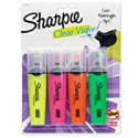 Deals List: Sharpie 1912769 Clear View Highlighters, Chisel Tip, Assorted Colors, 4-Count