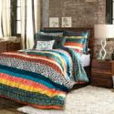 Deals List: Boho Stripe Comforters Turquoise Tangerine 7-Piece Set King