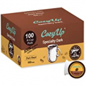 Deals List: CozyUp 100-Count Specialty Dark Roast Blend Coffee Pods for Keurig K-Cup Brewers, Dark Roast