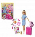 Deals List: Barbie Doll and Travel Set with Puppy, Luggage & 10+ Accessories, Multicolor