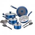 Deals List: T-fal 12pc Ceramic Cookware Set Blue