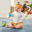 Deals List: Fisher-Price Baby Biceps Gift Set, 4 fitness-themed baby toys with wearable costume bib, rattle and teether for babies ages 3 months and older