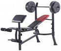 Deals List: Weider Pro 265 Standard Bench with 80 Lb. Vinyl Weight Set
