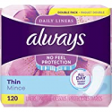 Deals List: Always Thin Daily Liners Regular Absorbency 120 Count Wrapped