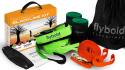 Deals List: flybold Slackline Kit with Training Line Tree Protectors Ratchet Protectors Arm Trainer 57 feet Easy Set up Instruction Booklet and Carry Bag Complete Set Outdoor Fun for Family Adults Children Kids