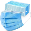 Deals List: 50PCS Disposable Face 3 Layer Anti-Dust Earloops Protective Cover Mask(Blue)