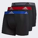 Deals List: 3-Count adidas Men's Climalite Trunks Underwear