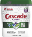 Deals List: 3 x Cascade Platinum Dishwasher Pods, Actionpacs Dishwasher Detergent, Fresh Scent, 62 Count