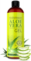 Deals List: Organic Aloe Vera Gel with 100% Pure Aloe From Freshly Cut Aloe Plant, Not Powder - No Xanthan, So It Absorbs Rapidly With No Sticky Residue - Big 12 oz
