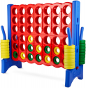 Deals List: Giant 4 in a Row Connect Game – 4 Feet Wide by 3.5 Feet Tall Oversized Floor Activity for Kids and Adults – Jumbo Sized for Outdoor and Indoor Play