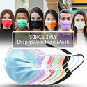 Deals List: 50PCS 3PLY Protective Face Mask Disposable Non Medical Surgical Dust Mouth Cover