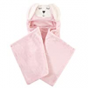 Deals List: Hudson Baby Unisex Baby and Toddler Hooded Animal Face Plush Blanket, Modern Bunny, One Size