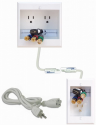 Deals List: PowerBridge Dual Outlet Recessed In-Wall Cable Management System Kit (TWO-CK)