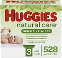 Deals List: Huggies Natural Care Sensitive Baby Wipes, Unscented, 3 Refill Packs (528 Wipes Total)