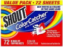 Deals List: Shout Color Catcher Sheets for Laundry, Maintains Clothes Original Colors, 72 Count