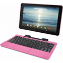 Deals List: RCA Viking Pro 10.1 2-in-1 Tablet 32GB Quad Core Pink Laptop Computer with Touchscreen and Detachable Keyboard Google Android