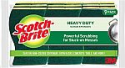Deals List: Scotch-Brite Heavy Duty Scrub Sponges, Tougher than Your Worst Messes, Stands Up to Stuck-on Grime, 9 Scrub Sponges