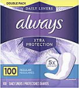 Deals List: 3X 100-Count Always Xtra Protection Daily Liners (Regular)
