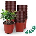 Deals List: GROWNEER 120 Packs 4 Inches Plastic Plant Nursery Pots