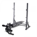 Deals List: NuFazes Bench Press Rack Weightlifting Barbell Lifting Bench