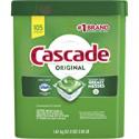 Deals List: 3 x Cascade Original Dishwasher Pods, Actionpacs Dishwasher Detergent Tablets, Fresh Scent, 105 Count