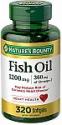 Deals List: 2 x Nature's Bounty Omega-3 Fish Oil, Heart Health, 1200 mg, 320 Rapid Release Softgels