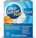 Deals List: Alka-Seltzer Plus Cold Medicine, Orange Zest Effervescent Tablets with Pain Reliever/Fever Reducer, Orange Zest, 20 Count