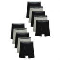 Deals List: Fruit of the Loom Men's CoolZone Fly Black and Gray Boxer Briefs, Super Value 10 Pack