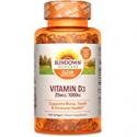 Deals List: Vitamin D3 by Sundown, Immnue Support & Bone & Teeth Health, 1000iu D3, Gluten Free, Dairy Free, 400 Softgels