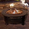 """Deals List:  Pure Garden - Fire Pit Set, Wood Burning Pit - Includes Spark Screen and Log Poker, 32"""" Round Metal Firepit - Black and Copper"""