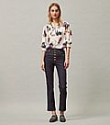 Deals List: Tory Burch PRINTED WIDE-COLLAR TUNIC BLOUSE