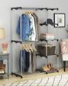 "Deals List: Whitmor Double Rod Freestanding Closet - Silver & Black - 19.5"" x 45.38"" x 68.0"""