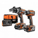 Deals List: RIDGID 18-Volt Lithium-Ion Cordless Brushless Hammer Drill and Impact Driver 2-Tool Combo Kit with (2) 4.0Ah Batteries, Charger