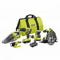 Deals List: Ryobi 18-Volt ONE+ Cordless 5-Tool Combo Kit with (2) 1.5 Ah Compact Lithium-Ion Batteries, Charger, and Bag