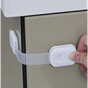 Deals List: Child Safety Strap Locks (4 Pack) for Fridge, Cabinets, Drawers, Dishwasher, Toilet, 3M Adhesive No Drilling - Jool Baby