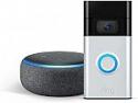 Deals List: All-new Ring Video Doorbell – 1080p HD video, improved motion detection, easy installation (2nd Gen) (Satin Nickel or Venetian Bronze) + Free Echo Dot (3rd Gen)