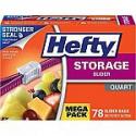 Deals List: 78-Count Hefty Slider Plastic Food Storage Bags (Quart)