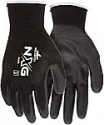 Deals List: MCR Safety 9669L Nylon Knitted Shell MCR Safety Gloves with PU Dipped Palm and Fingers (Black, Large)