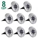 Deals List: Aogist 8 LED Garden Waterproof Patio Outdoor Light w/Sensor