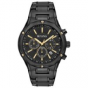 Deals List: Bulova Mens Stainless Steel Chronograph Black and Gold Tone Watch